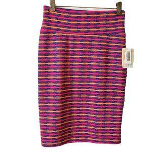 LULAROE Women's Cassie Striped Pencil Skirt Small
